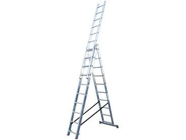 KRAUSE Vielzweckleiter »CORDA«, mit Treppenfunktion, silberfarben, 30, silberfarben