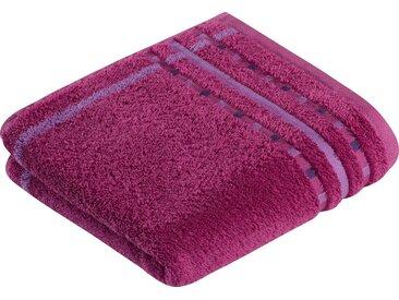 Vossen Handtücher »Atletico« (2-St), mit aufwändiger Bordüre, lila, candy