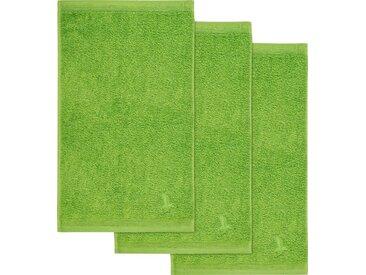 Möve Gästehandtücher »Superwuschel« (3-St), in kräftigen Farben, grün, grün