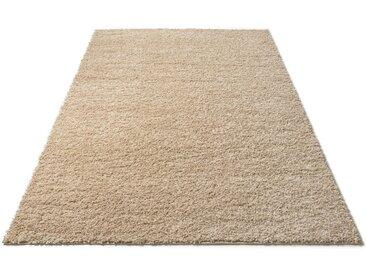 Bruno Banani Hochflor-Teppich »Shaggy Soft«, rechteckig, Höhe 30 mm, gewebt, grau, graumelange