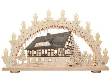 SAICO Original 3D-Lichterbogen Fachwerkhaus, natur, Natur