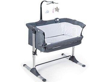 COSTWAY Beistellbett »Babybett Kinderbett Reisebett«, breit-, neigungs- und höhenverstellbar, mit Spielbogen und Spieluhr