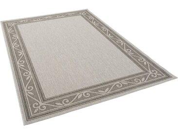 Pergamon Designteppich »Modern Flachgewebe Ruggy Barock Bordüre«, Rechteckig, Höhe 4 mm