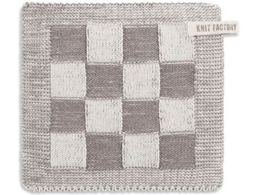 Knit Factory Tischdecke »Topflappen Block Ecru/Taupe«