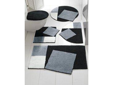 Grund Badgarnitur in außergewöhnlicher Form, schwarz, schwarz/grau