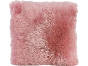 Gözze Kissenhülle »Schaffell«, (1 Stück), mit Reißverschluss, rosa, altrosa