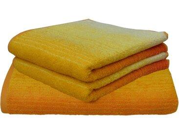 Dyckhoff Handtuch Set »Colori« (Set, 3-tlg), mit Farbverlauf, gelb, 3 tlg., gelb