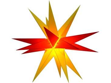 Guru-Shop LED-Stern für außen »Melchior Outdoor II zweifarbig gelb/rot, sehr..«, Melchior gelb/rot