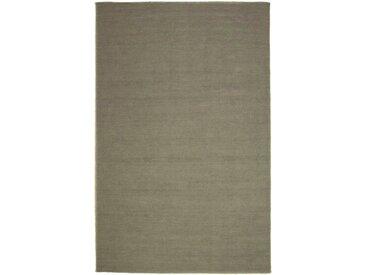 morgenland Wollteppich »KELIM FANCY UNI«, rechteckig, Höhe 7 mm, Wendbar, Einfarbig, Uni, grau, grau