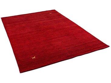 Pergamon Wollteppich »Natur Teppich Indo Napal Gabbeh Shiva«, Rechteckig, Höhe 10 mm, rot, Rot