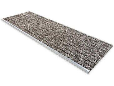 Floordirekt Stufenmatte »Sicherheits-Stufenauflage«, Rechteckig, mit Alu-Schiene, braun, Braun