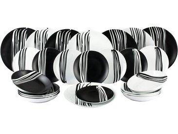 Retsch Arzberg Tafelservice »MILAN« (24-tlg), Porzellan, fühlbares Struktur-Design