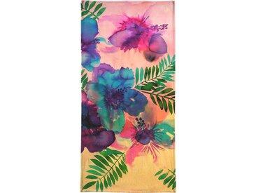 Juniqe Handtuch »Skye Hibiscus Floral« (1-St), Weiche Frottee-Veloursqualität