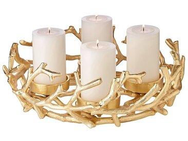 EDZARD Adventskranz »Porus«, Goldoptik