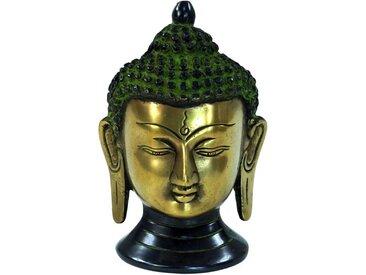 Guru-Shop Buddhafigur »Buddha Statue, Buddha Büste aus Messing«