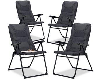 relaxdays Campingstuhl »4 x Campingstuhl gepolstert«