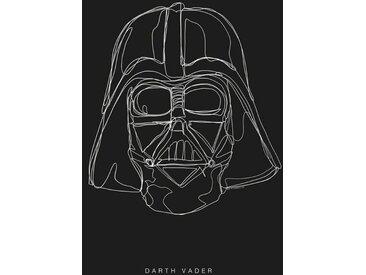 Komar KOMAR Wanddekoration »Star Wars Lines Dark Side Vader«, ohne Rahmen, bunt, 40 cm, bunt