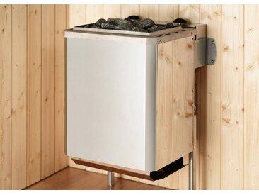 weka WEKA Saunaofen »Kompakt«, 9 kW, integrierte Steuerung, silberfarben, silberfarben