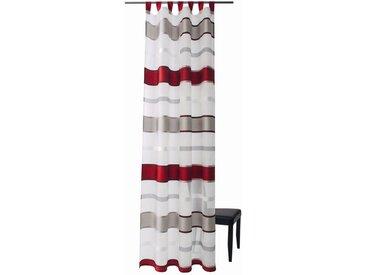 HOMING Vorhang, Homing Schlaufenschal Cosoria 140x245 Vorhang Wohnzimmer Deko transparent rot