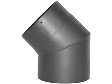 JUSTUS ORANIER Rauchrohr Ø 150 mm, Ofenrohr für Kaminöfen, grau, grau