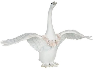 Clayre & Eef Tierfigur » Dekofigur Schwan 40*16*27 cm weiß«