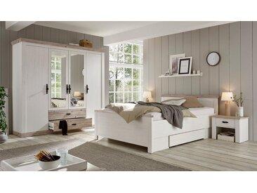 Home affaire Schlafzimmer-Set »Florenz«, (ab Bettgröße 140cm. sind 2 Nachttische enthalten), 4-türiger Kleiderschrank