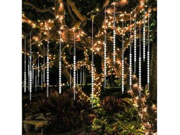 TOPMELON LED-Lichtervorhang »Lichtervorhänge«, 192-flammig, LED Eiszapfen Lichtervorhang,LED Dekolicht, weiß, 192 St. - 192 St. - 2 St., Weiß
