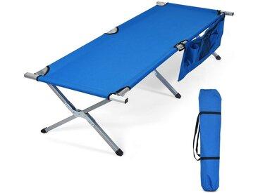COSTWAY Klappbett »Campingbett Feldbett Einzelbett« bis 205 kg belastbar, Blau