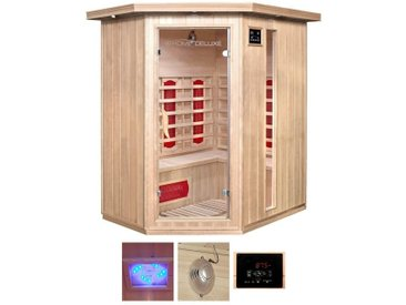 HOME DELUXE Infrarotkabine »Redsun XL«, BxTxH: 155x120x190 cm, für bis zu 3 Personen, natur, natur