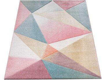 Paco Home Teppich »Kosy 310«, rechteckig, Höhe 16 mm, Kurzflor in schönen Pastell-Farben