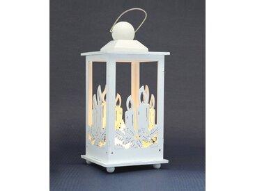 HGD Holz-Glas-Design Deko-Laterne mit LED-Kerze
