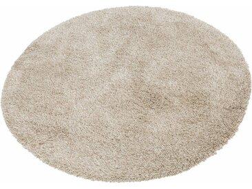 merinos Hochflor-Teppich »Denver«, rund, Höhe 50 mm, natur, beige