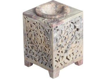 Casa Moro Duftlampe »Orientalische Duftlampe Shiva-2 aus Soapstone handgeschnitzt 8x8x11 cm (B/T/H) ätherisches Öl Diffusor, Teelicht-Halter für Aromatherapie