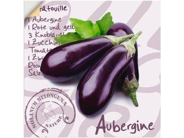 Artland Wandbild »Aubergine«, Lebensmittel (1 Stück), in vielen Größen & Produktarten - Alubild / Outdoorbild für den Außenbereich, Leinwandbild, Poster