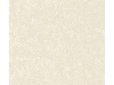 A.S. Création Vliestapete »Romantico Uni«, uni, braun, creme-weiß