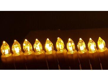 TRANGO LED-Christbaumkerzen »LED Weihnachtskerzen«, 24-flammig, orange, orange leuchtend