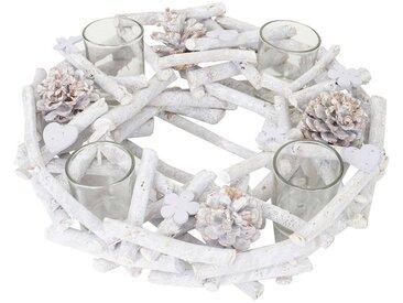MCW Adventskranz »T784«, Mit 4 Teelichtgläsern, Aufwendig geschmückt