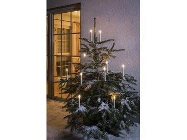 KONSTSMIDE LED Baumbeleuchtung, 5 kabellose Kerzen, Zusatzset, weiß, Lichtquelle warm-weiß, Weiß