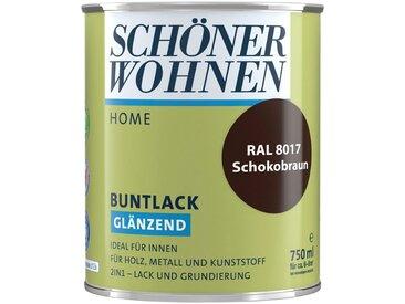 SCHÖNER WOHNEN-Kollektion SCHÖNER WOHNEN FARBE Lack »Home Buntlack«, glänzend, 750 ml, schokobraun RAL 8017, braun, braun