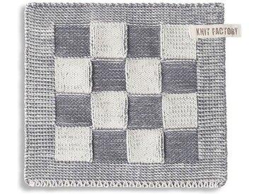 Knit Factory Tischdecke »Topflappen Block Ecru/Med«