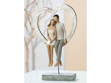 GILDE Dekofigur »Liebespaar sitzend« (1 Stück), romantisch, handbemalt