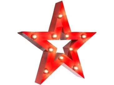 MARQUEE LIGHTS LED Dekolicht »Star«, Stern, rot, rot