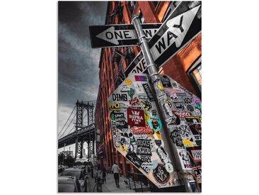 Artland Wandbild »New York Street Fotografie«, Amerika (1 Stück), Alu-Dibond-Druck