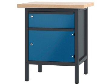 PADOR Werkbank »11 S 2/7 R«, Höhe: 85,5 cm, blau, anthrazit/blau