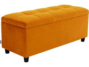 COUCH♥ Bettbank »Abgesteppt«, Mit Stauraum, Steppung in der Sitzfläche, gelb, gold
