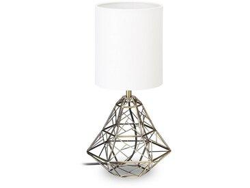 relaxdays Nachttischlampe »Tischlampe mit geometrischem Sockel«