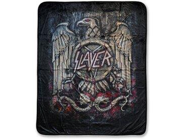 Klangundkleid Bett, »Slayer EAGLE FLEECEDECKE schwarz 100% Polyester 130 x 160 cm NEU TOP«