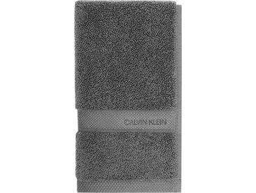 Calvin Klein home Waschlappen »Tracy« (3-tlg), mit Logo, grau, dark grey