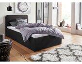 Westfalia Schlafkomfort Polsterbett, inkl. Bettkasten bei Ausführung mit Matratze, schwarz, ohne Matratze - kein Härtegrad - kein Härtegrad, schwarz