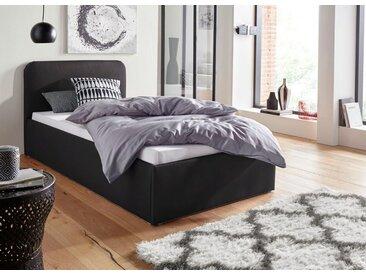 Westfalia Schlafkomfort Polsterbett, in 3 Bezugsqualitäten, schwarz, ohne Matratze - kein Härtegrad - kein Härtegrad, schwarz